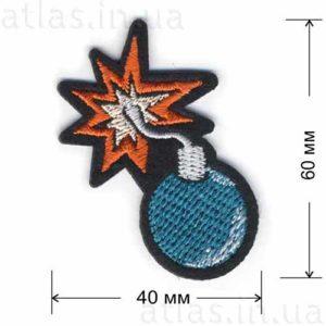 нашивка на фетре бомба