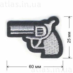 нашивка пистолет
