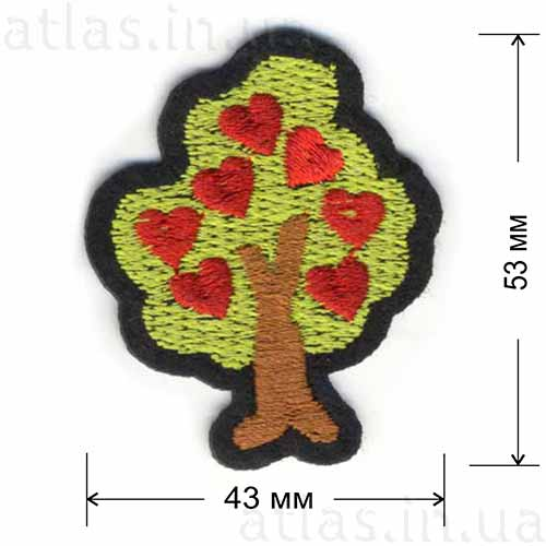 Патч Дерево с сердечками