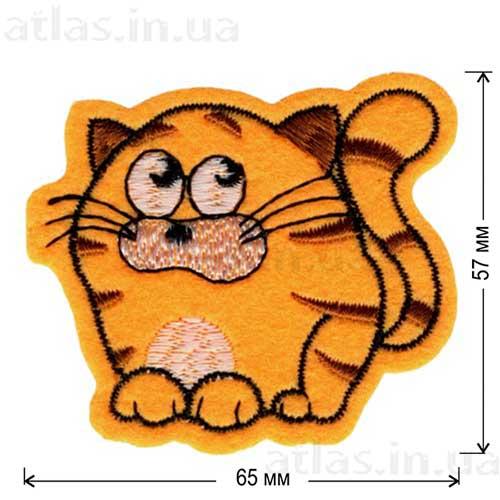 круглый кот нашивка