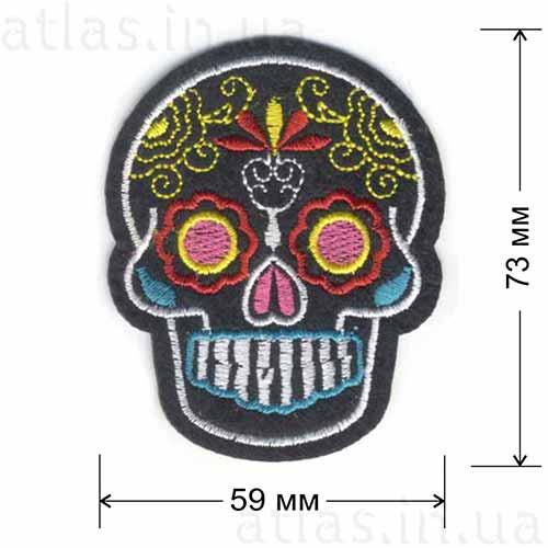 гламурный череп нашивка