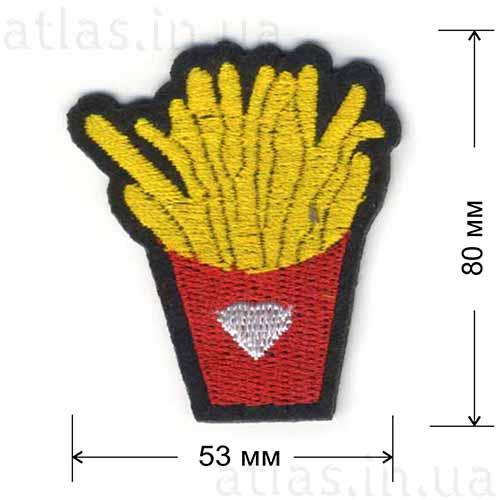 модная нашивка картофель фри