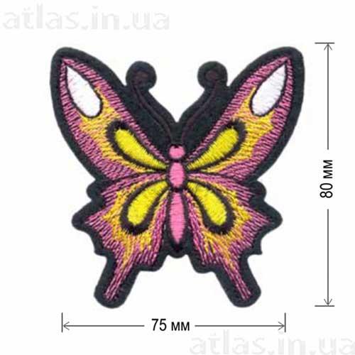 большая розовая бабочка нашивка