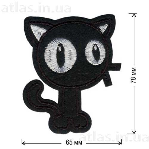 черный кот детская нашивка