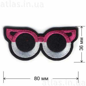 очки розово-белые нашивка