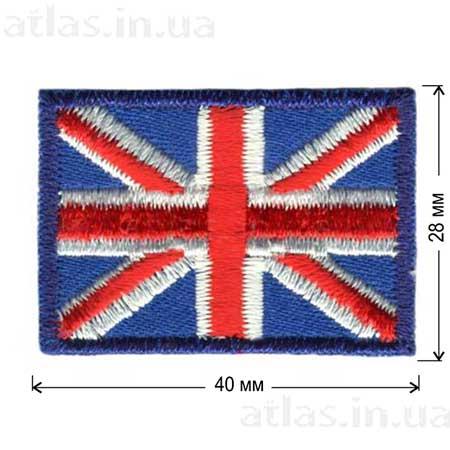 великобритания клеевой флаг нашивка