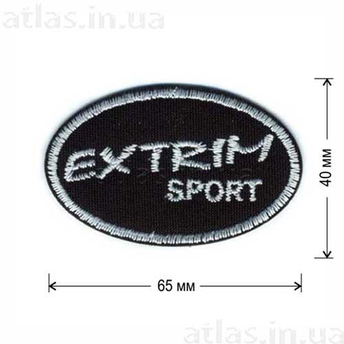 нашивка екстрим спорт черно-белая