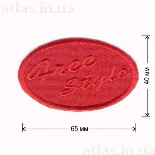 free style нашивка красная