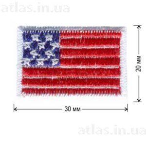 американский флаг нашивка