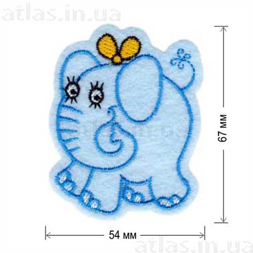 слоник забавная нашивка на одежду