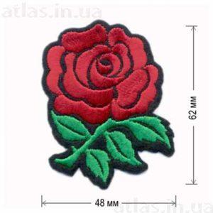 нашивка на одежду красная роза