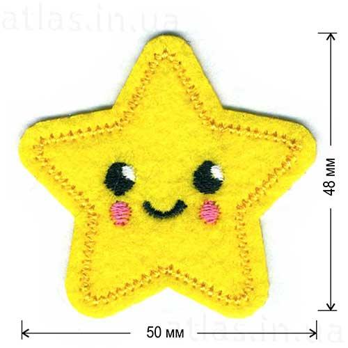 звездочка детская нашивка
