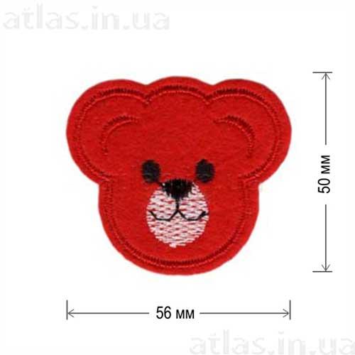 голова медведя красная нашивка