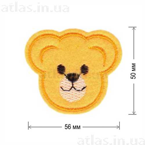 голова медведя оранжевая нашивка