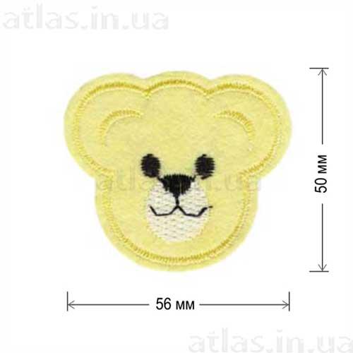 голова медведя желтая нашивка