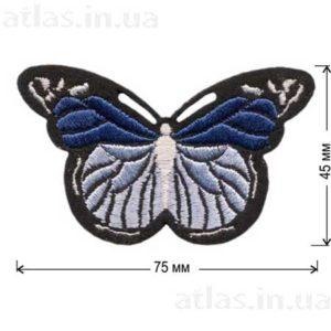 синяя бабочка нашивка на одежду