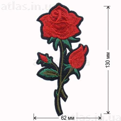 вышитая роза аппликация