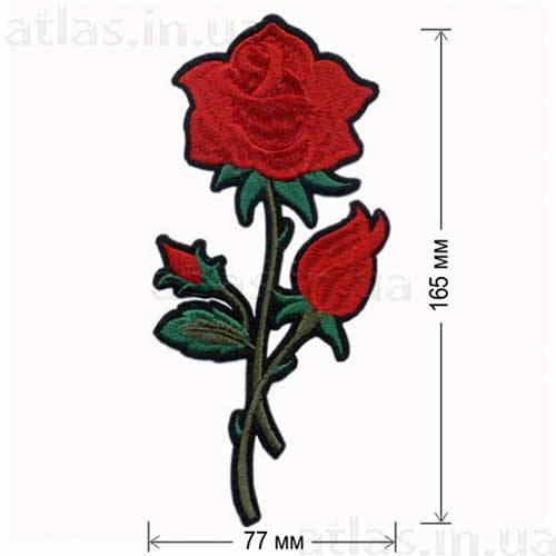 красная роза аппликация на одежду