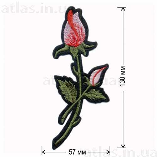 роза розовый бутон аппликация