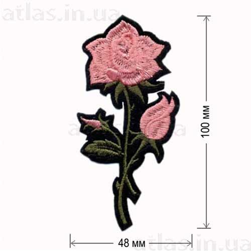 розовая роза аппликация