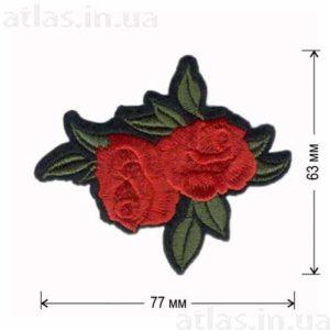 розы красные бутоны аппликация