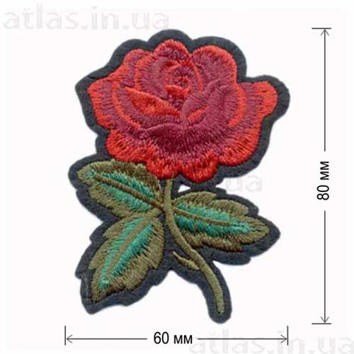 красная роза нашивка
