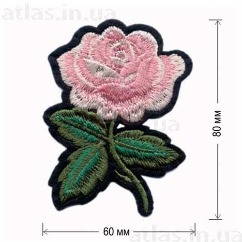 роза розовая аппликация