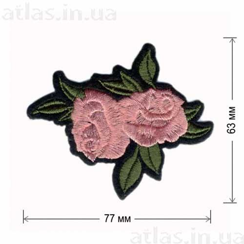 розы розовые бутоны аппликация