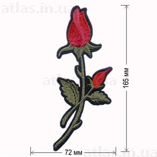 красная роза клеевая аппликация