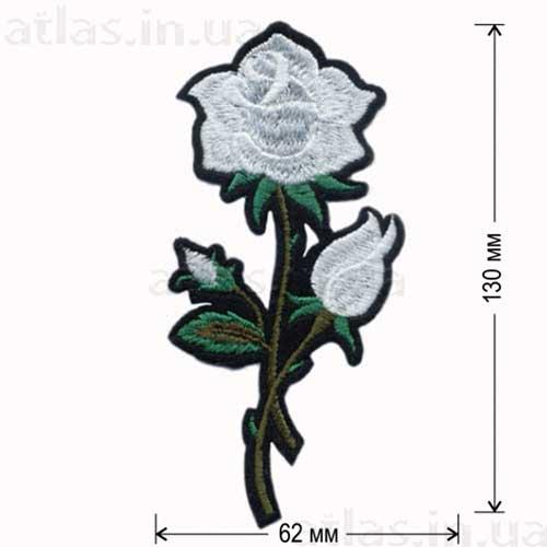 роза белая аппликация