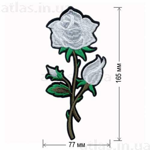 белая роза аппликация на одежду