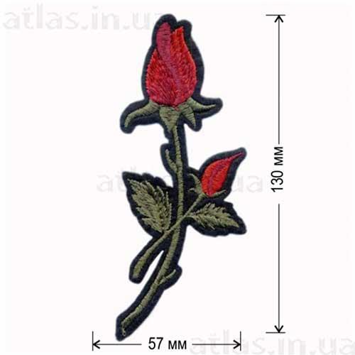 роза красный бутон аппликация