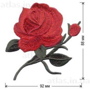 аппликация красная роза