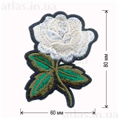 белая роза нашивка