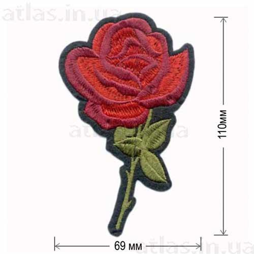 роза красная аппликация