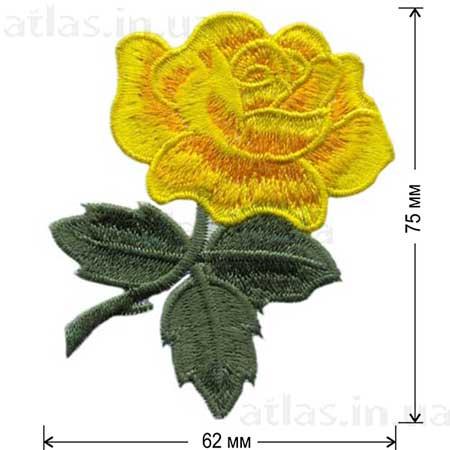 роза желтый бутон аппликация