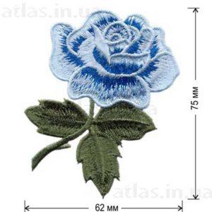 роза голубой бутон аппликация