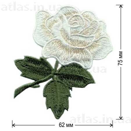роза белый бутон аппликация