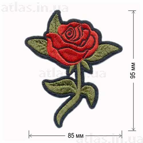 красная роза аппликация