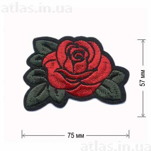 красная роза один бутон вышивка