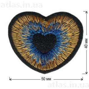 Патч Яркое синее сердце