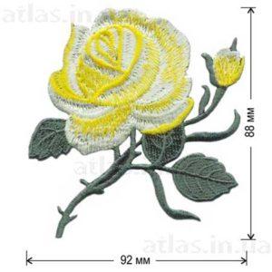 аппликация желтая роза