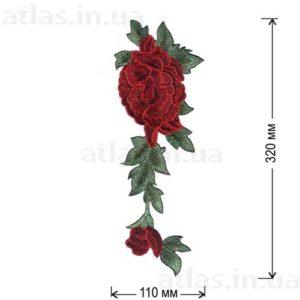 роза красная два бутона