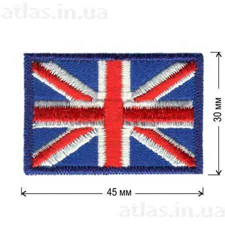 флаг великобритания нашивка клеевая