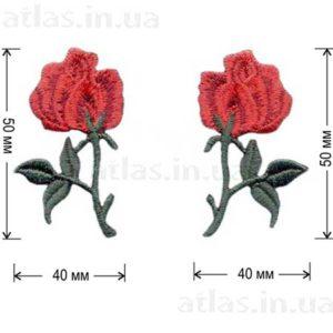 роза красная один бутон левая правая