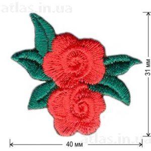 роза красная в левую сторону