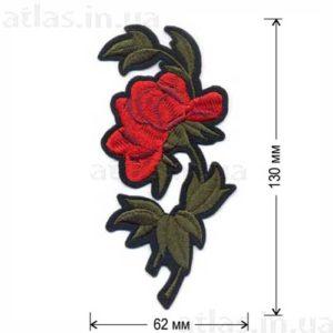 роза один бутон аппликация на одежду