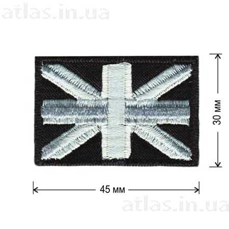 флаг великобритании черно-белый нашивка
