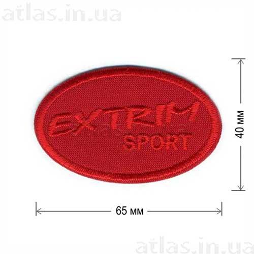 нашивка екстрим спорт красная