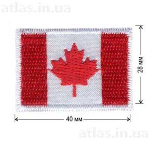 флаг канады нашивка